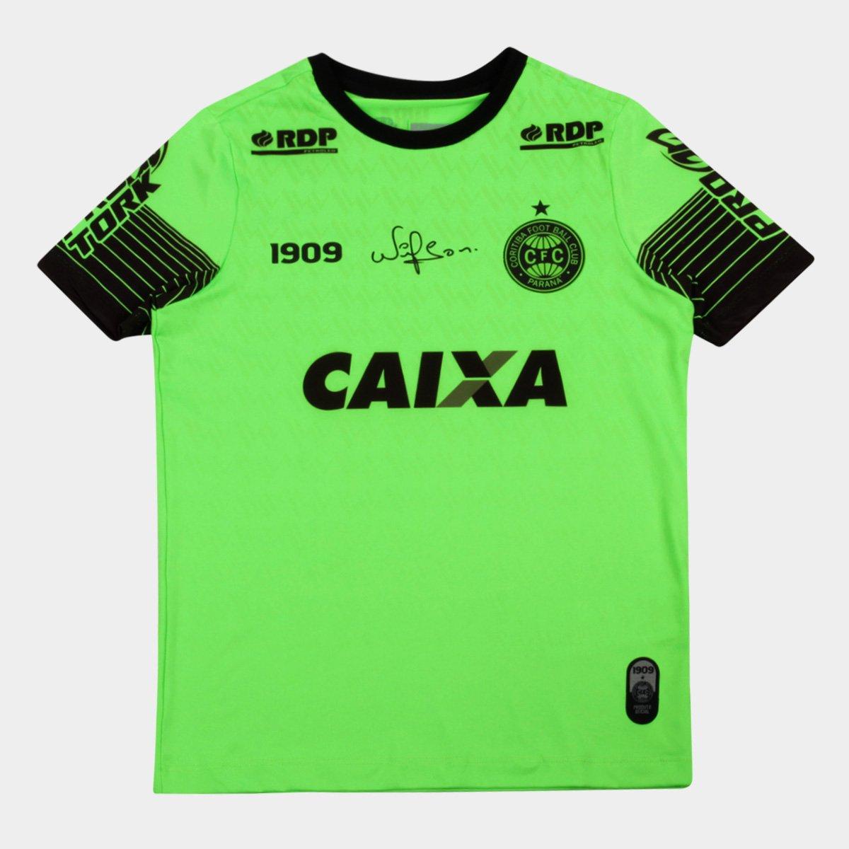 Camisa Goleiro Coritiba 2018 s n° C Patrocínio - Jogador 1909 Juvenil a687254f14c51