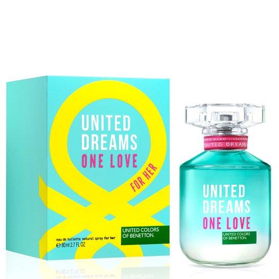 e6024683932 Perfume One Love Her Feminino Benetton Eau de Toilette 80ml - Incolor
