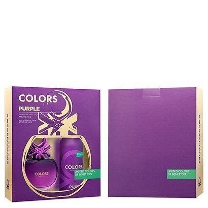 Kit Perfume Feminino Colors Purple Benetton Eau de Toilette 80ml + Desodorante...