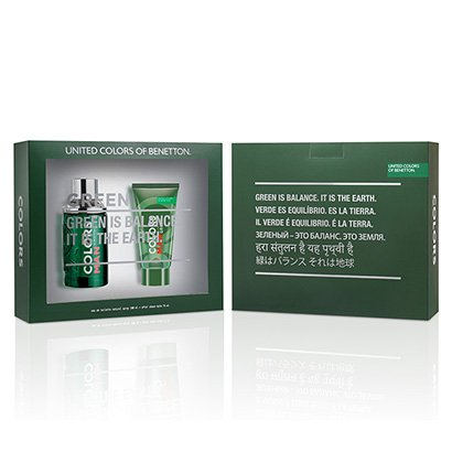 Kit Colors Man Green Benetton - Perfurme Masculino Eau de Toilette 100ml +...