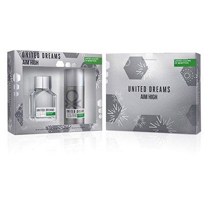 Kit Perfume Masculino U.D. Aim High Benetton EDT 100ml + Desodorante 150ml