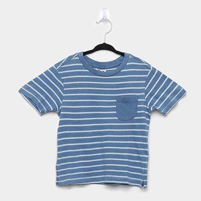 Camiseta Infantil Trick Nick- Meia Malha Fio Denim Masculina