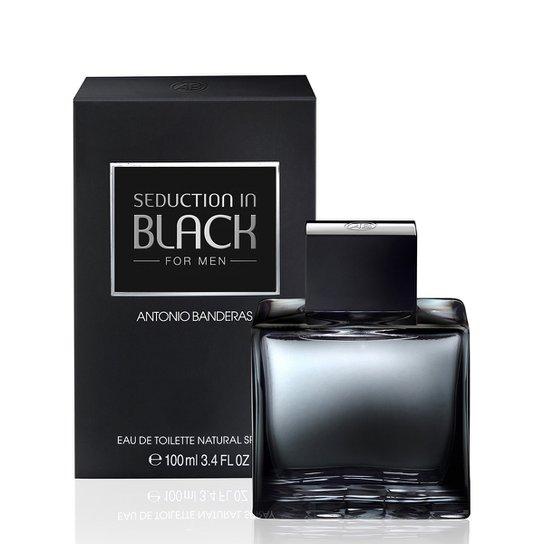 adcc54998 Perfume Seduction in Black Men Masculino Antonio Banderas Eau de Toilette  100ml - Incolor