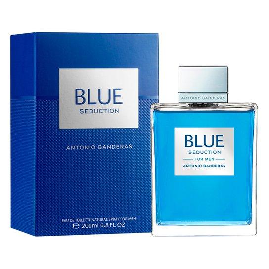 f2ba9e7500 Perfume Masculino Blue Seduction Antonio Banderas Eau de Toilette 200ml -  Incolor