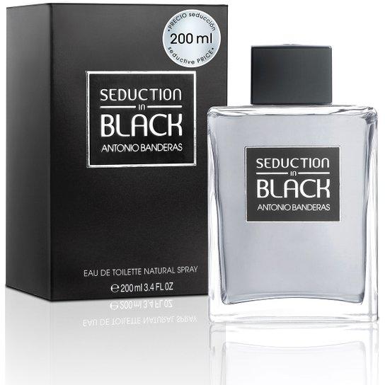 719544d269 Antonio Banderas Perfumes Masculino Black Seduction EDT 200ml - Incolor