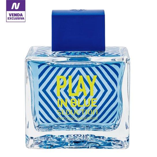 22e2af80b7 Perfume Play In Blue Seduction Masculino Antonio Banderas EDT 100ml -  Incolor