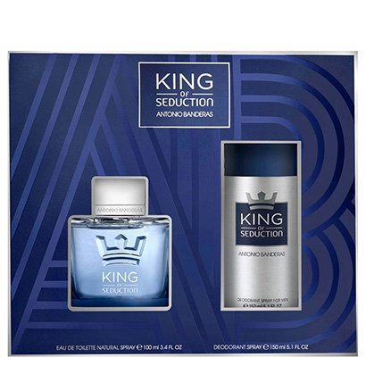 Kit Perfume Masculino King Of Seduction Antonio Banderas Eau de Toilette 100ml...