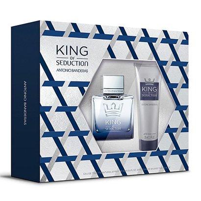 Kit Perfume Antonio Banderas King Of Seduction Masculino EDT 100ml + Pós Barba...