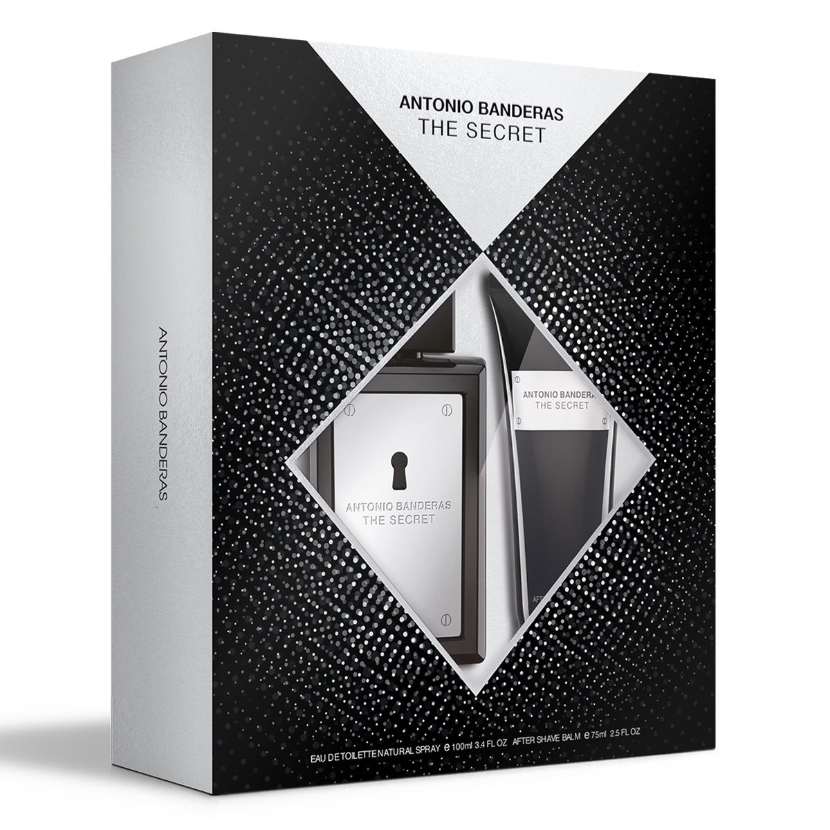 Kit Perfume Masculino Antonio Banderas The Secret EDT 100ml + Loção Pós Barba 75ml