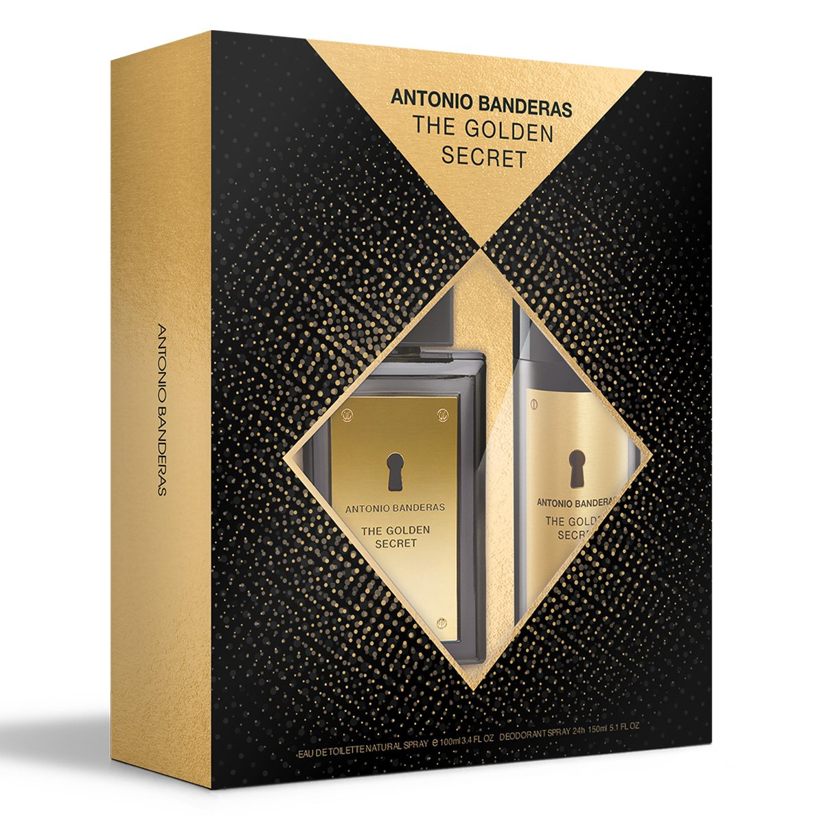 Kit Perfume Masculino Antonio Banderas The Golden Secret  EDT100ml + Desodorante 150ml