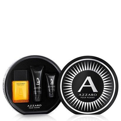 Kit Perfume Masculino Pour Homme Azzaro EDT 100ml + Shampoo Corporal 100ml +...