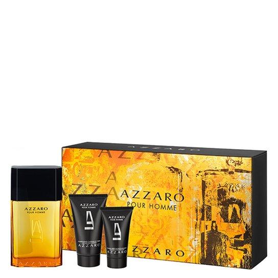 656dab0d36 Kit Azzaro Pour Homme Azzaro - Masculino - Eau de Toilette - Perfume + Pós  barba