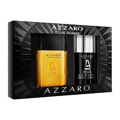 Kit Perfume Masculino Pour Homme Azzaro Eau de Toilette 100ml + Desodorante...