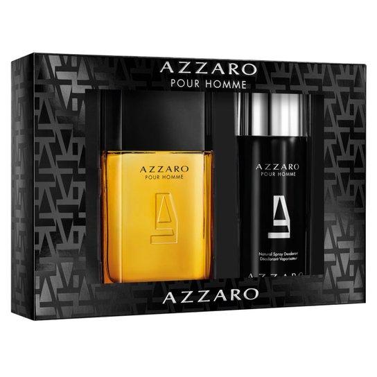 734e37a217 Kit Perfume Masculino Azzaro Pour Homme Eau de Toilette 100ml +1 Desodorante  150ml - Incolor
