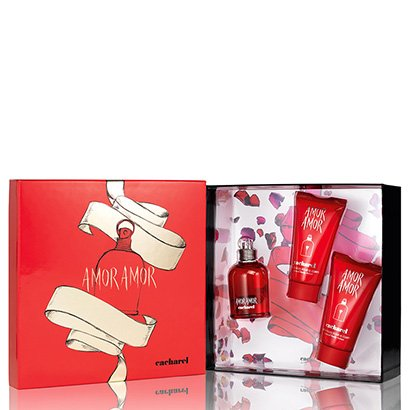 Kit Perfume Amor Amor Feminino Cacharel EDT 50ml + 2 Body Lotion 50ml