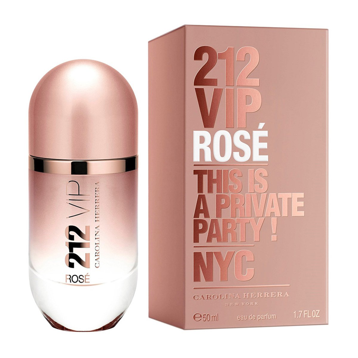 Perfume Feminino 212 VIP Rosé Carolina Herrera Eau de Parfum 50ml - 1