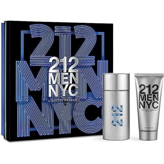 e13f65e71 Carolina Herrera Kit Perfume Masculino 212 Men EDT 100ml + Pós Barba 100ml  - Incolor