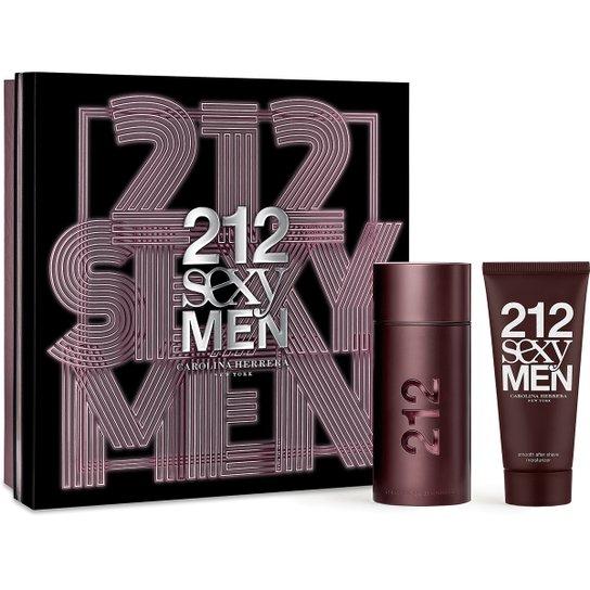 2de971528 Carolina Herrera Kit Perfume Masculino 212 Sexy Men EDT 100ml + Pós Barba  100ml - Incolor