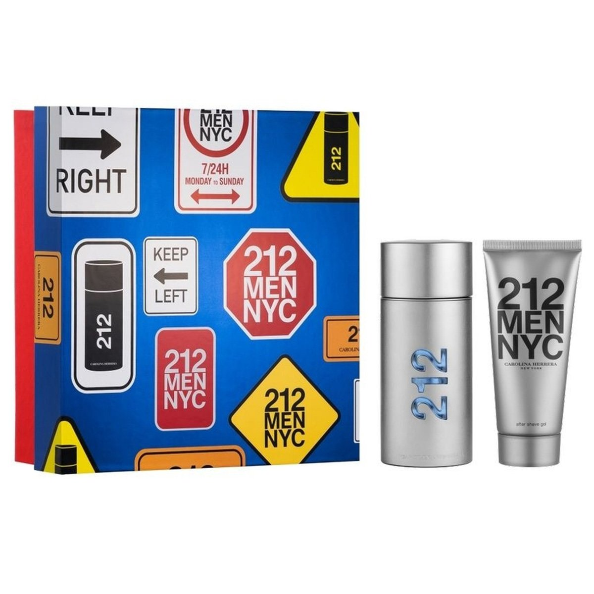 Kit Perfume Carolina Herrera 212 Men Eau de Toilette Masculino 100ml + Loção Pós Barba 100ml