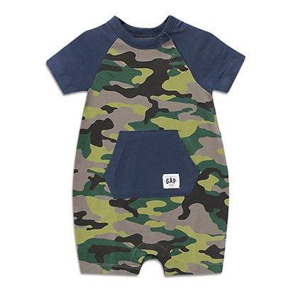 Macacão Curto Infantil Gap Com Bolsos Camuflado Baby