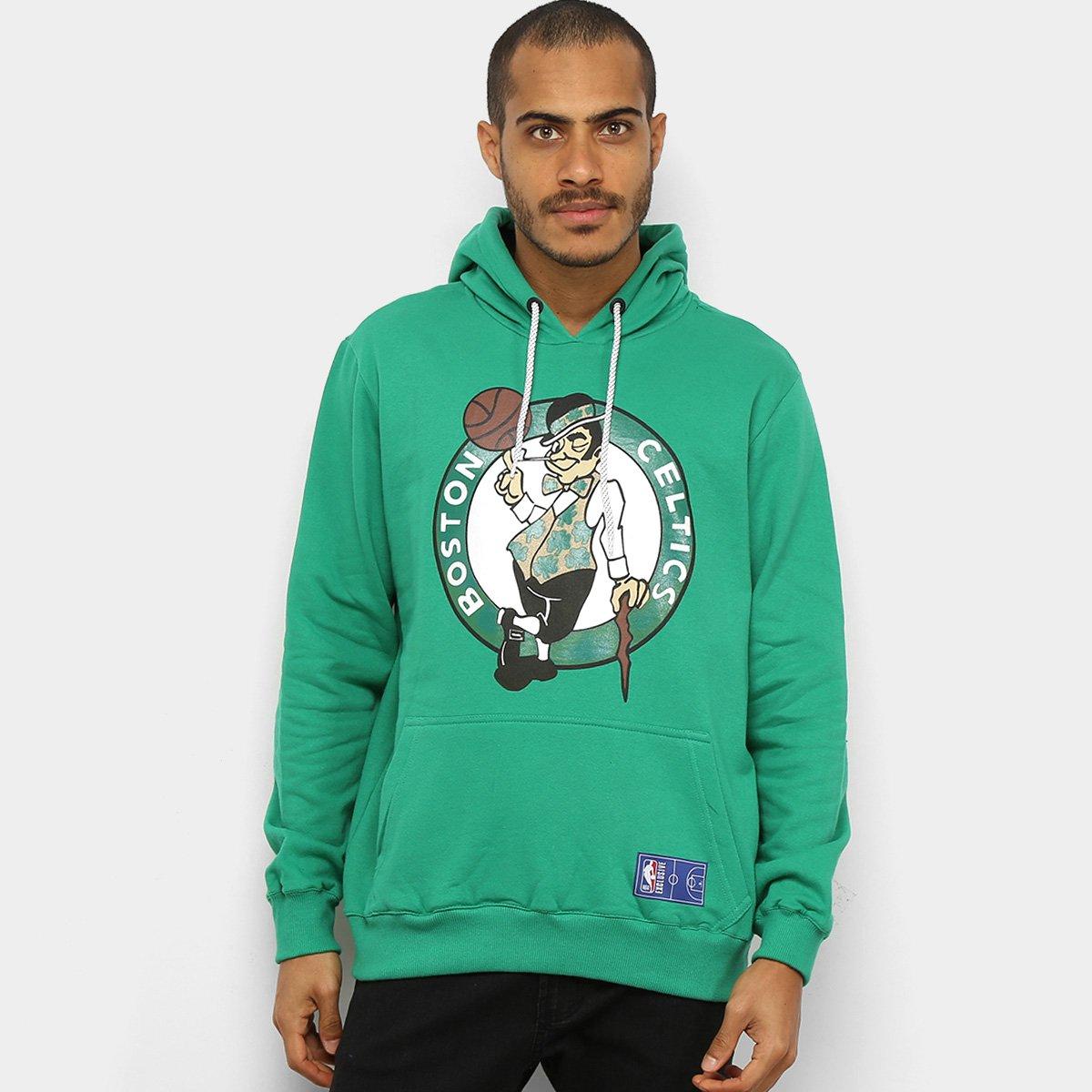 Moletom NBA Boston Celtics Canguru Masculino