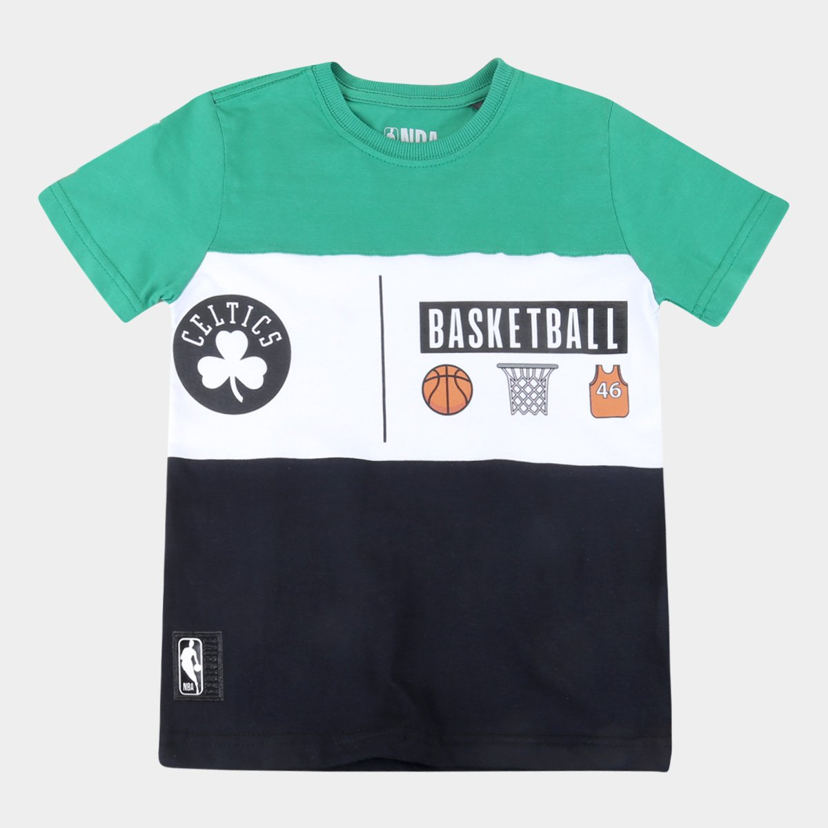 Camiseta Juvenil Boston Celtics NBA Especial Masculina