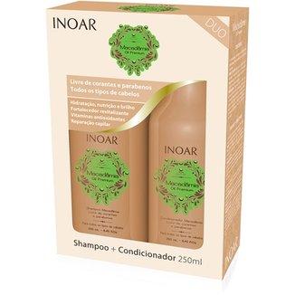 Inoar Kit Duo Shampoo 250ml+ Condicionador 250ml Macadâmia e5ae0581af