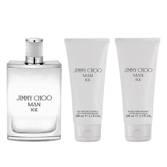 6e36145c66 Kit Perfume Masculino Jimmy Choo Man Ice Eau de Toilette + Gel de Banho +  Pós