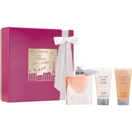 d81618d4ba2 Lancôme Kit Perfume Feminino La Vie Est Belle 50ml + Gel de Banho + Loção  Corporal