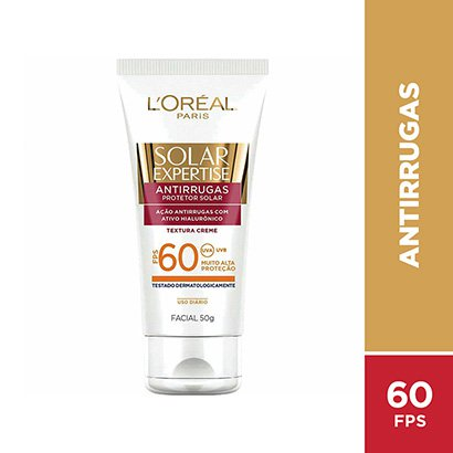 Protetor Facial L'Oreal Paris Solar Expertise Antirrugas FPS 60 50g