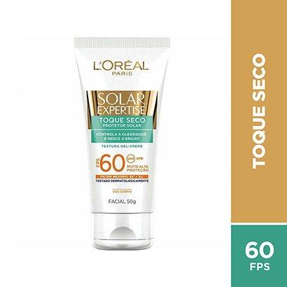 L'Oreal Paris Protetor Facial Solar Expertise Toque Seco FPS 60 50g