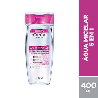 Água Micelar L'Oréal Paris Solução de Limpeza Facial 5 em 1 400ml