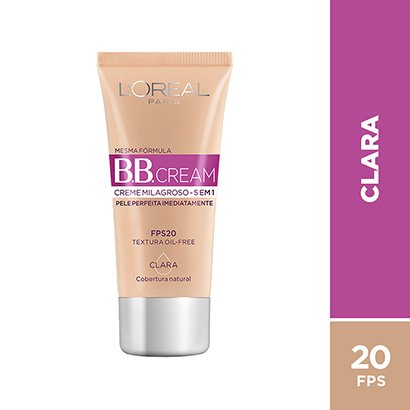BB Cream L'Oréal Paris cor Clara FPS 20 30ml