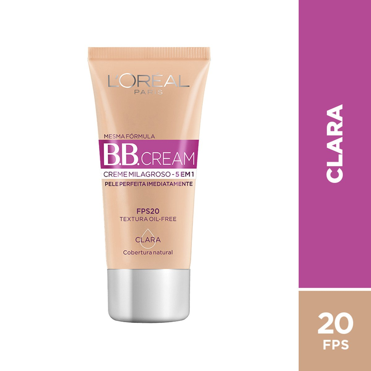 BB Cream L'Oréal Paris cor Clara FPS 20 30ml - 1