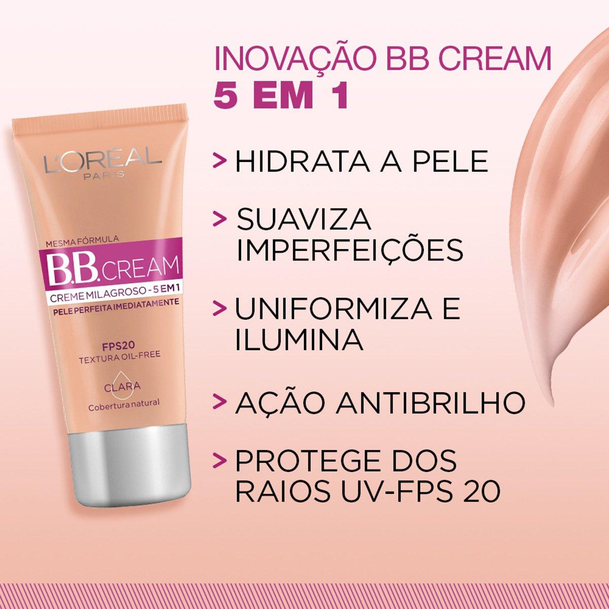 BB Cream L'Oréal Paris cor Clara FPS 20 30ml - 5