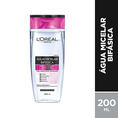 Água Micelar Bifásica Especial L'Oréal Paris Maquiagem à Prova D'Água 200ml