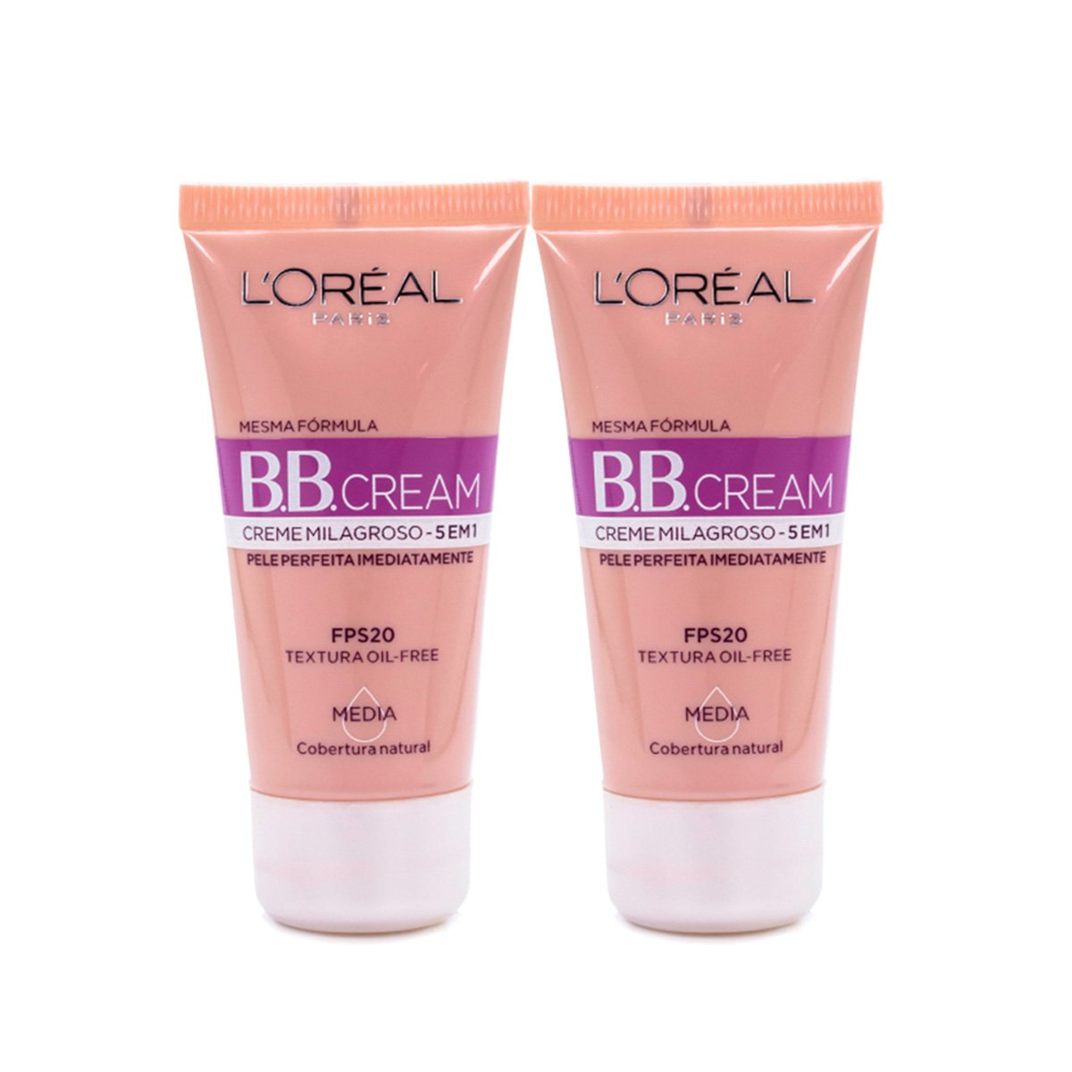 Kit 2 BB Cream L'Oréal Paris cor Média FPS 20 30ml