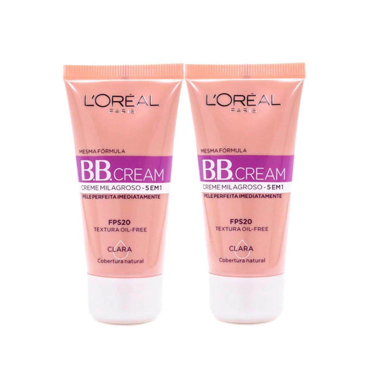 Kit 2 BB Cream L'Oréal Paris cor Clara FPS 20 30ml