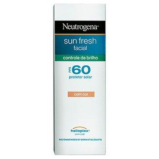 6915190c7 Protetor Solar Facial Neutrogena Sun Fresh Controle de Brilho com Cor FPS  60 50ml