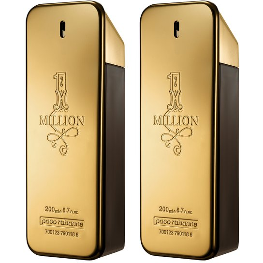 1a71a1573 Kit Paco Rabanne 2 Perfumes Masculino One Million EDT 200ml - Compre ...