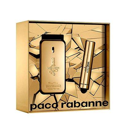 Kit Perfume Masculino One Million Paco Rabanne Eau de Toilette 50ml + Miniatura...