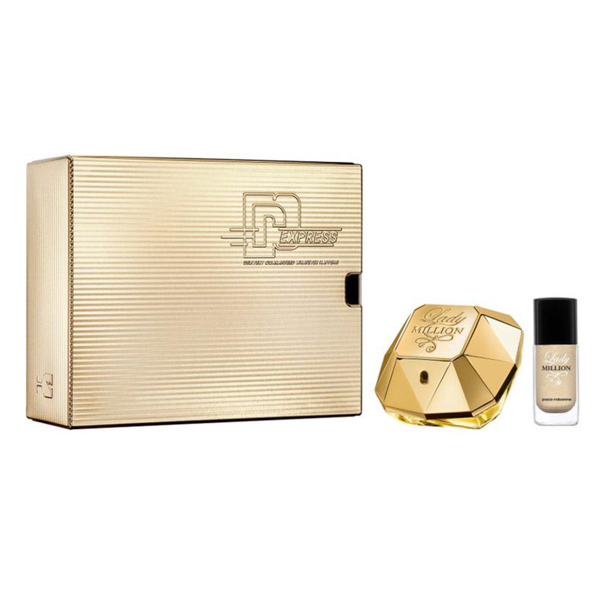 Kit Perfume Feminino Lady Million Paco Rabanne EDP 50ml + Esmalte