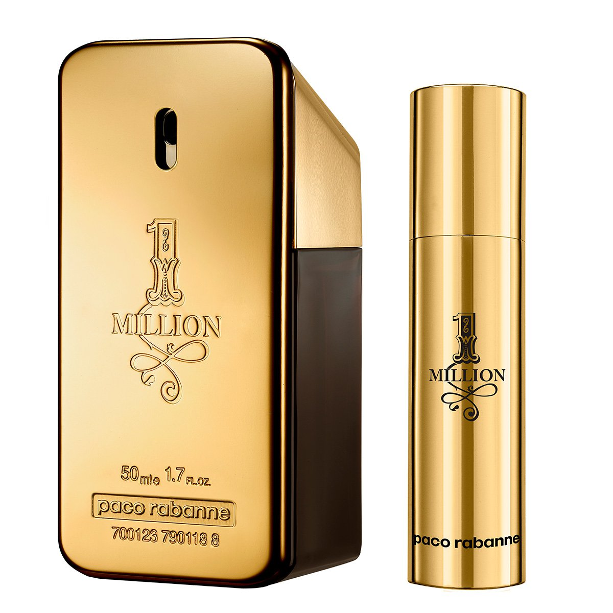 Kit Perfume Paco Rabanne 1 Million Masculino EDT 50ml + Travel Spray 10ml