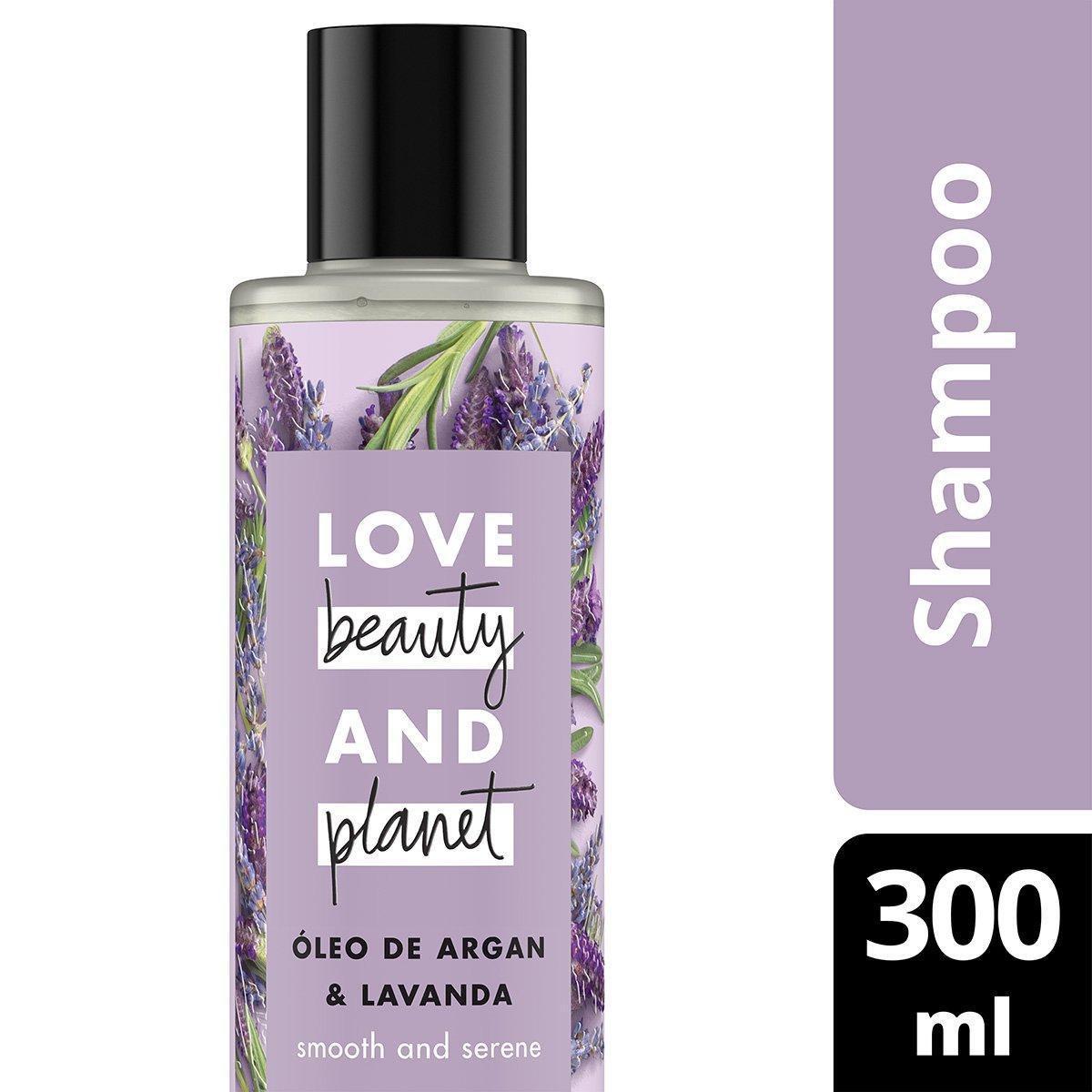 Shampoo Smooth and Serene Óleo de Argan & Lavanda Love Beauty and Planet 300ml