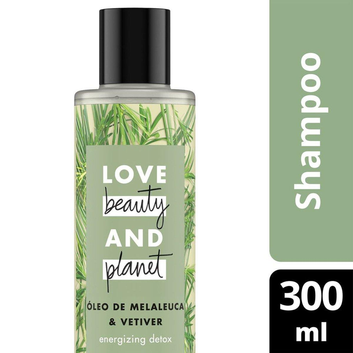 Shampoo Energizing Detox Óleo de Melaleuca & Vetiver Love Beauty and Planet 300ml