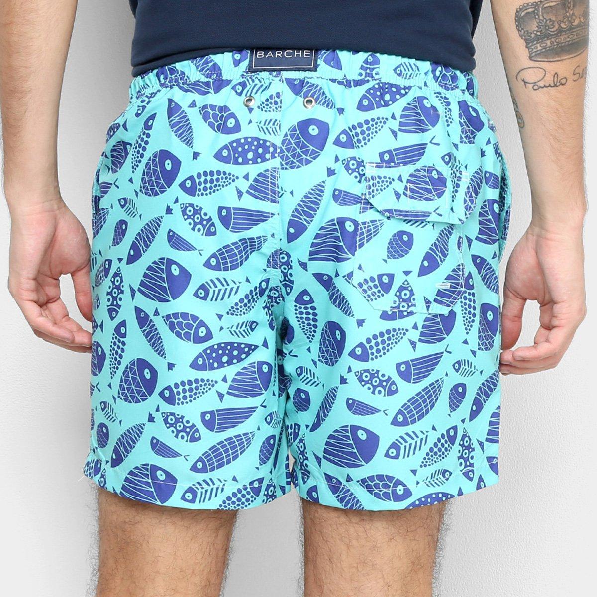 Shorts Barche Peixes Masculino - Tam: P - 1