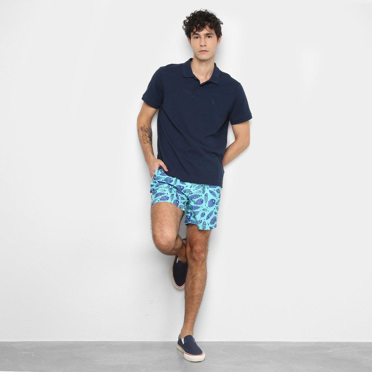 Shorts Barche Peixes Masculino - Tam: P - 2