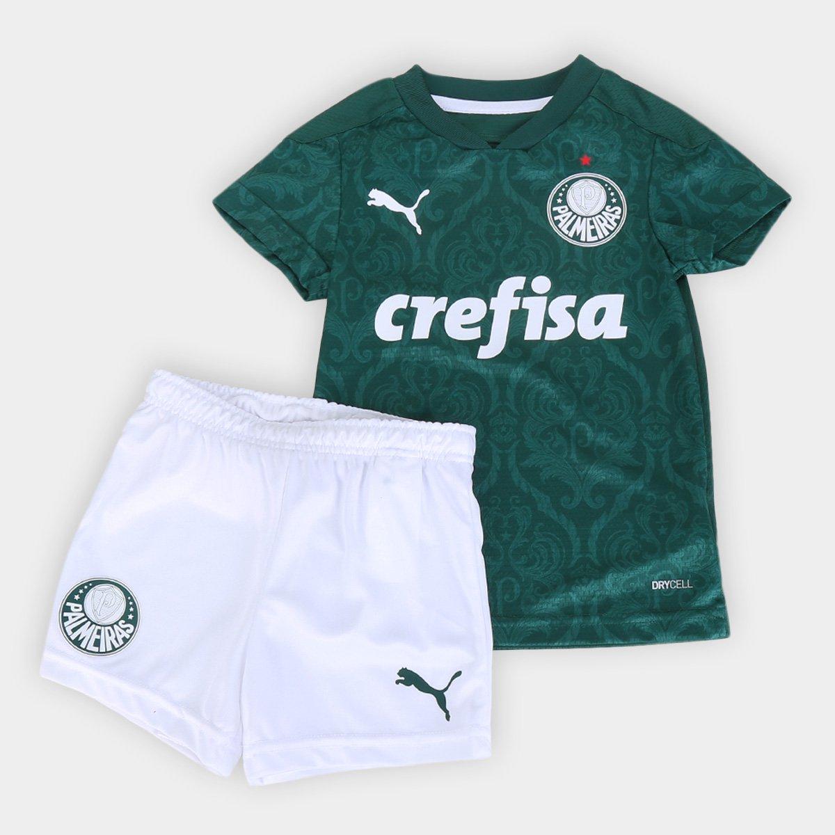 Kit Palmeiras Infantil I 20/21 s/n° Torcedor Puma