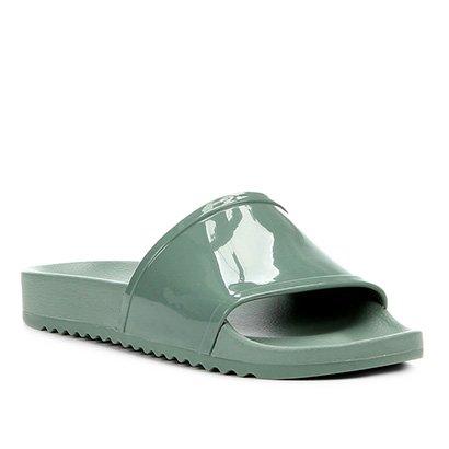 Rasteira Shoestock Slide Verniz