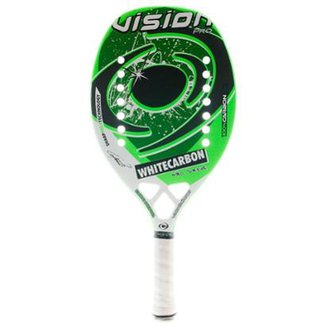 583139104 Raquete De Beach Tennis Vision White Carbon Pro Dr